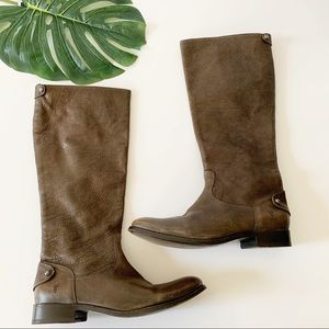 Frye leather melissa button tall riding boots 11 B